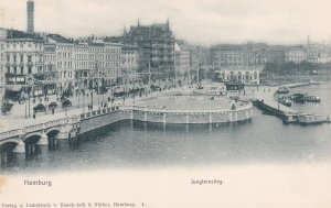 HAMBURG, Germany, 1900-1910's; Jungfernstleg