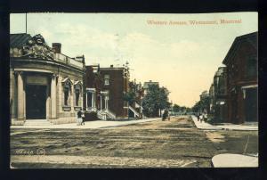 Montreal, Quebec, Canada  Postcard, Western Avenue, Westmount, 1913!