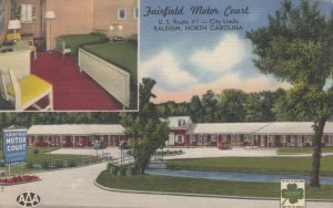 RALEIGH, North Carolina, 30-40s; Fairfield Motor Court, U.S. Route # 1