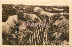 Old Postcard Verdun Hose Franco German Communicating Fort Army in the First Line
