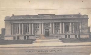 Gary Indiana~Carnegie Library~Adams & 5th Ave~Razed 1962~1915 Real Photo~RPPC
