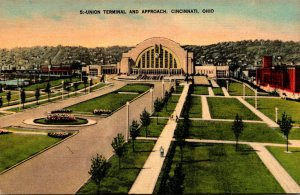 Ohio Cincinnati Union Terminal and Approach Kraemer Art