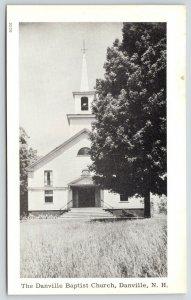 Danville New Hampshire~Danville Baptist Church~1940s B&W Postcard