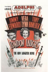 Vera Lynn Tony Hancock Live At London Adelphi 1953 Theatre Poster Postcard