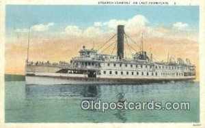 Steamer Vermont, On Lake Champlain, New York, NY USA Steam Ship 1929 crease