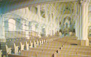 Canada Nova Scotia Cape Breton Interieur De Leglise Saint Pierre Cheticamp 1966