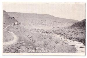 Ezra Meeker Postcard Old Oregon Trail Typical Scene Oregon Country Pioneer