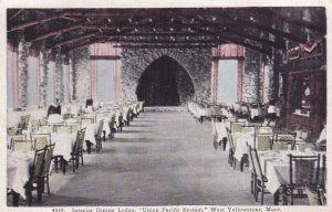 WEST YELLOWSTONE, Montana, 1930-1940s; Interior Dining Lodge, Union Pacific ...