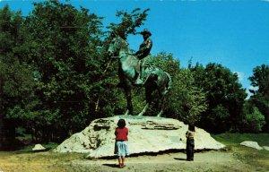 Postcard Equestrian Statue of Theodore Roosevelt Minot North Dakota