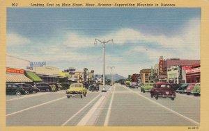 Arizona Mesa Main Street Looking East Curteich sk5445