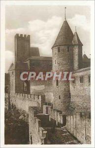 Postcard Old Carcassonne (quote) Le Pont du Chateau Pint Defense Exterieure LL