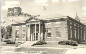 RPPC of Post Office in Green River, Wyoming, WY, date ????