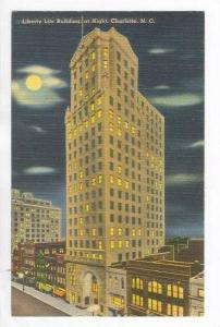 Liberty Life Building at Night,Charlotte,NC,30-40s