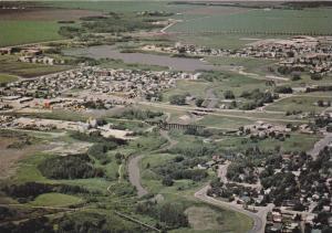 An aerial view of the city, Grande Prairie,   Alberta,  Canada,  50-70s