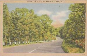 Illinois Beardstown Greetings From Beardstown