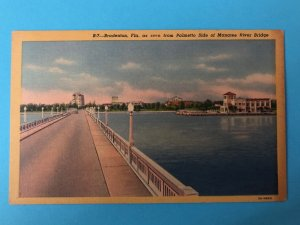Bradenton Florida as seen from Palmetto side of the Manatee River Bridge