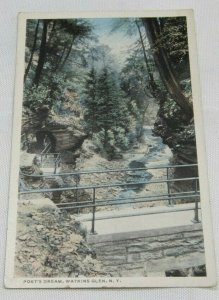 View of Poets Dream Watkins Glen NEW YORK NY Vintage Postcard