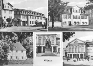 Weimar Goethehaus am Frauenplan Schillerhaus Denkmal Nationaltheater