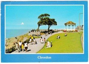 Postcard Somerset Clevedon Green Beach