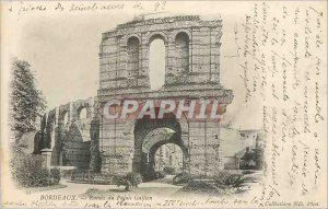 Postcard Ancient Ruins Bordeaux Palais Gallien (map 1900)