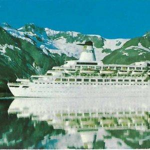 Vintage 1980s Princess Cruises Postcard Island Sun Pacific Princess Extra Large