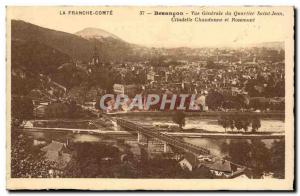 Old Postcard Besancon General view of St. John Chaudanne Citadel neighborhood...