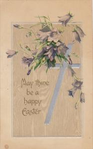 Easter Silver Cross with Purple Flowers 1908