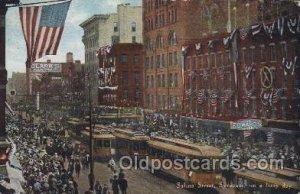 Salina Street, Syracuse, USA Main Steet 1910 some corner wear, very light edg...
