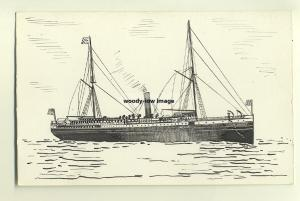 su409 - American Liner - City of Augusta , built 1880 - 1 off Pen & Ink postcard