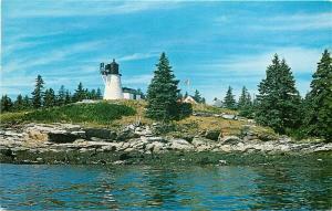 ME, Boothbay Harbor, Maine, Burnt Island Lighthouse, Owen Art No. S-48144
