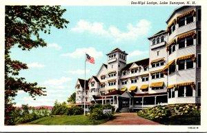 New Hampshire Lake Sunapee Soo-Nipi Lodge Curteich