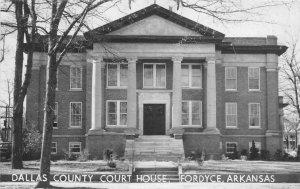G77/ Fordyce Arkansas RPPC Postcard c50s Dallas County Court House
