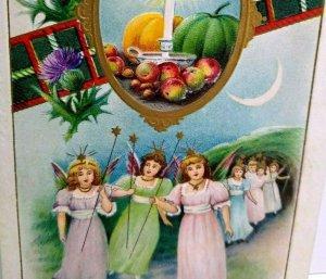 Halloween Postcard Gottschalk Dreyfuss Davis 2504 Angels Marching At Night 1912