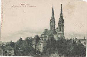 B79758 zagreb croatia prvostoina crkva   front/back image