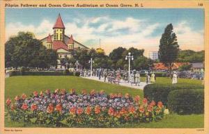 New Jersey Ocean Grove Pilgrim Pathway And Ocean Grove Auditorium At Ocean Grove