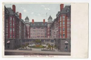 Hotel Portland OR 1908 Vintage Oregon Postcard