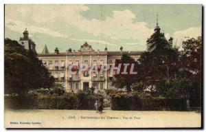 Postcard Old Dax Establishing Spa Front View