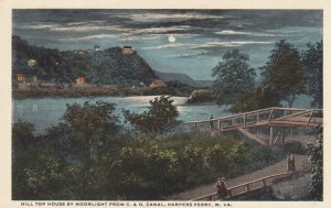 HARPERS FERRY, WV, 1900-10s; Hill Top House by Moonlight from C. & O. Canal