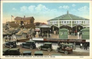 Old Orchard Beach ME Amusement Rides Noah's Ark Carousel etc Postcard