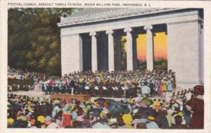 Rhode Island Providence Festival Chorus Benedict Temple To Music Roger Willia...
