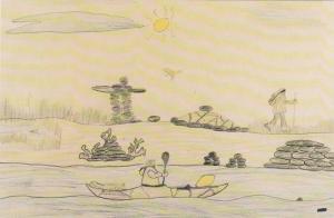 Artwork From Indians Kids (Davik Tulurialik - Age 16), Expo 86, Northwest Ter...