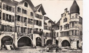 Switzerland Biel Der Ring The Circle Street Scene Real Photo sk4013