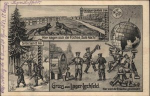 Gruss Aus Lager-Lechfeld Man in the Moon German Soldiers Drinking Beer USED PC