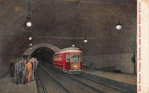 E. Boston Tunnel Entrance, Near Atlantic Ave. Train Station, 1908 Postcard, Used