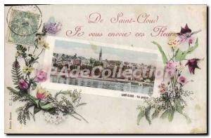 Postcard Old Saint Cloud I sent you these flowers