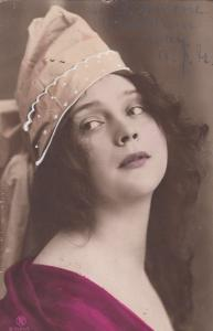 RP: Girl with cap Head portrait , 1900-10s