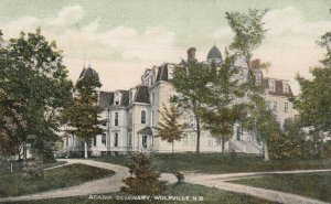 WOLFVILLE , Nova Scotia , 1900-10s ; Acadia Seminary, Version 3