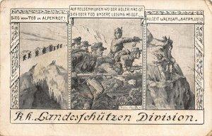 WWI KK Landes sschuetzen division fieldpost Postcard