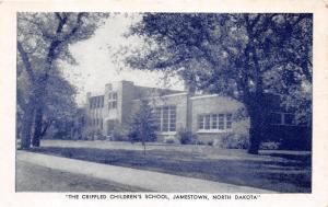 Jamestown North Dakota~The Crippled Childrens School (Built 1941)~B&W Postcard