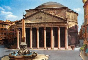 Italy Roma The Pantheon fountain, architecture, building